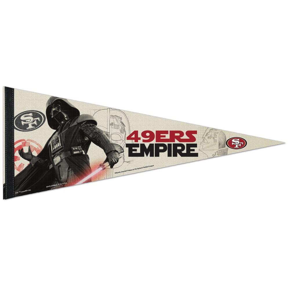 San Francisco 49ers NFL Star Wars Darth Vader Premium Pennant (12in. x 30in.)