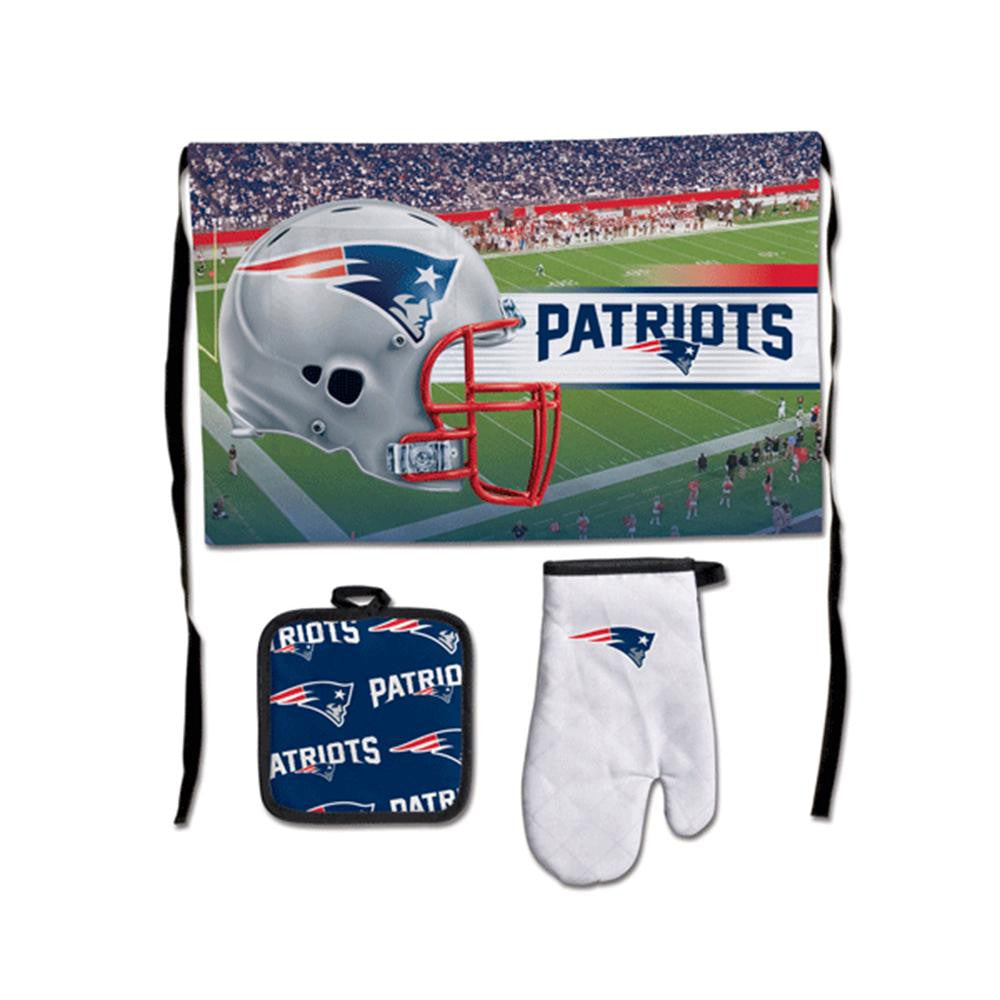 New England Patriots NFL Premium 3-Piece Barbeque Tailgate Set xyz