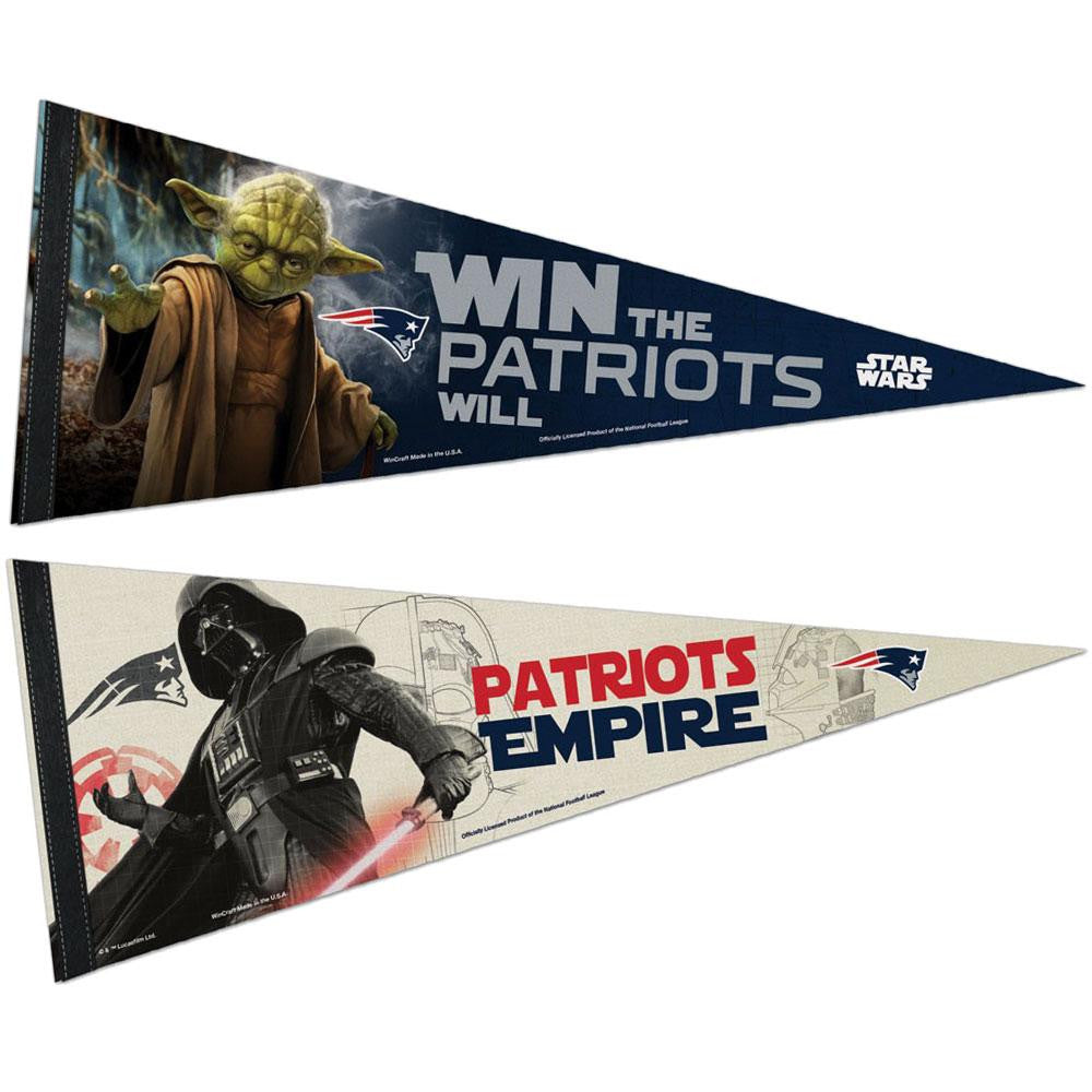New England Patriots NFL Star Wars Dark Side/Light Side Premium Pennant 2pc Set (12in. x 30in.)