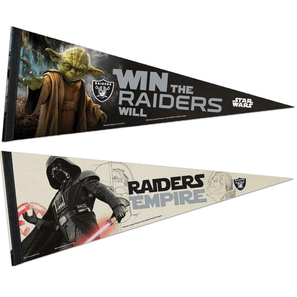 Oakland Raiders NFL Star Wars Dark Side/Light Side Premium Pennant 2pc Set (12in. x 30in.)