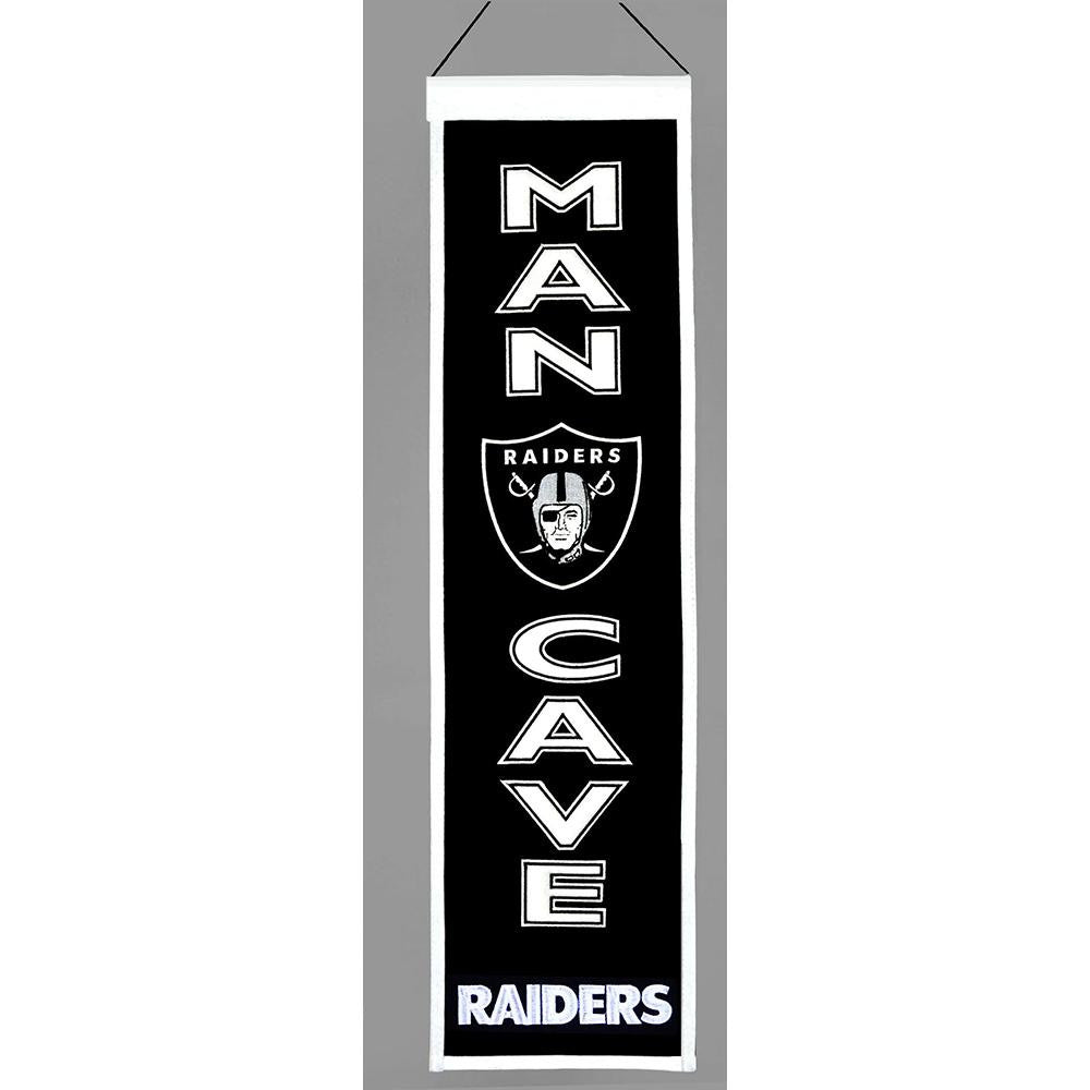 Oakland Raiders NFL Man Cave Vertical Banner (8 x 32)
