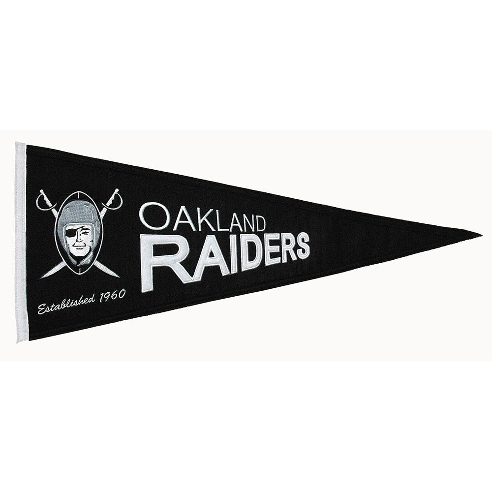 Oakland Raiders NFL Throwback Pennant (13x32)