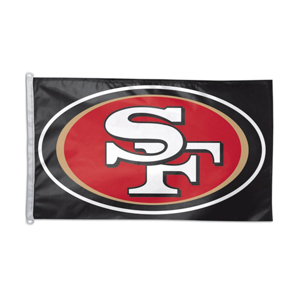 San Francisco 49ers NFL 3x5 Banner Flag (Black Background) (36x60)