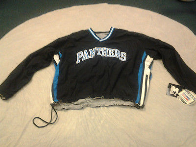 new concept b8901 47eab CAROLINA PANTHERS RETRO STARTER PRO LINE PULL OVER REVERSIBLE WINDBREAKER  JACKET