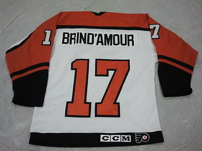 detailed pictures 78fc3 5f26b ROD BRIND'AMOUR #17 PHILADELPHIA FLYERS RETRO YOUTH STARTER OR CCM HOCKEY  JERSEY