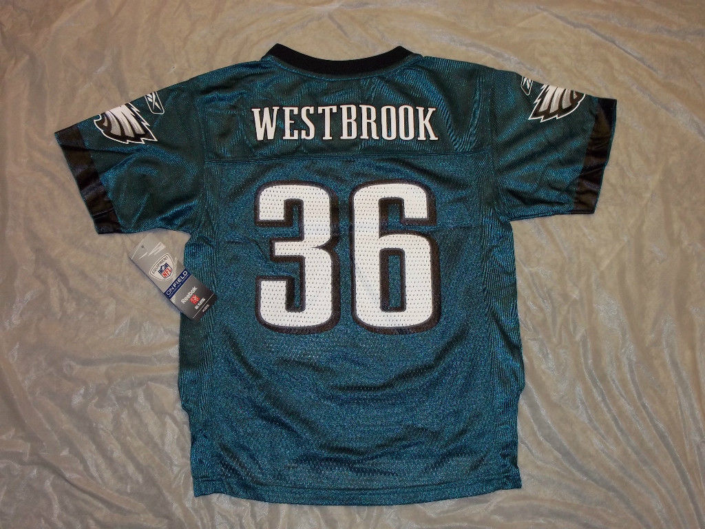 1117a968 BRIAN WESTBROOK #36 PHILADELPHIA EAGLES NFL CHILD SIZE 4-7 JERSEY SHIPPING!