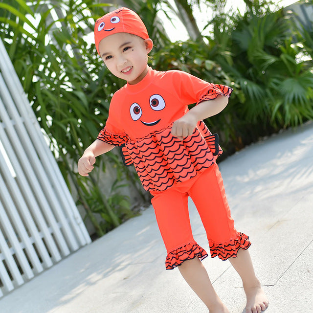 df9a772417264 ... Kids Swimwear For Girls Swimming Suit Junior Swimsuit Bathing Suits  2018 Boys Drying Aids Children Floating