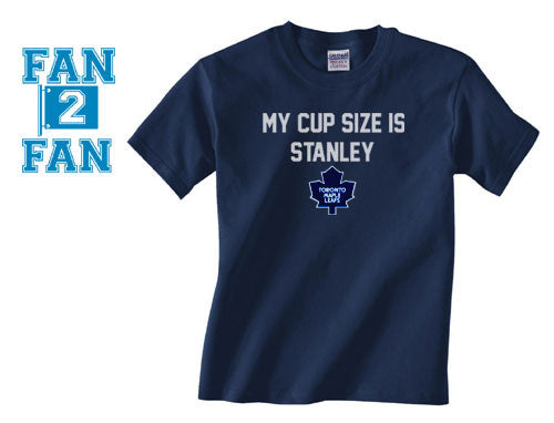 Navy My Cup Size is Stanley Stanly Toronto Maple Leaves Leafs Canadians Tee Tshirt T-Shirt Batman