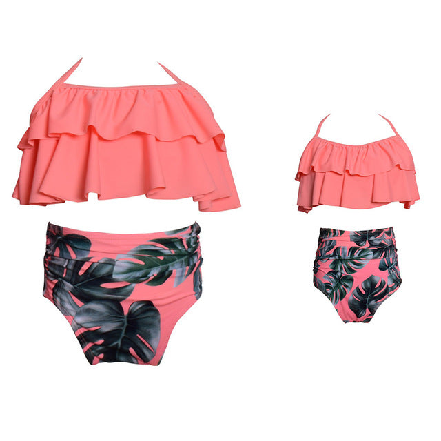 fe116374d13ca Matching Family Bathing Suits Mother Girl Bikini Swimsuit For Mom and –  KO 41 13 (Kickoffshirts.com Fishing) 2018