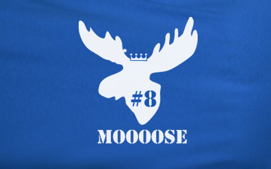 Blue Mike Moustakas Moose #8 KC Kansas City Royals Baseball Tee Tshirt T-Shirt