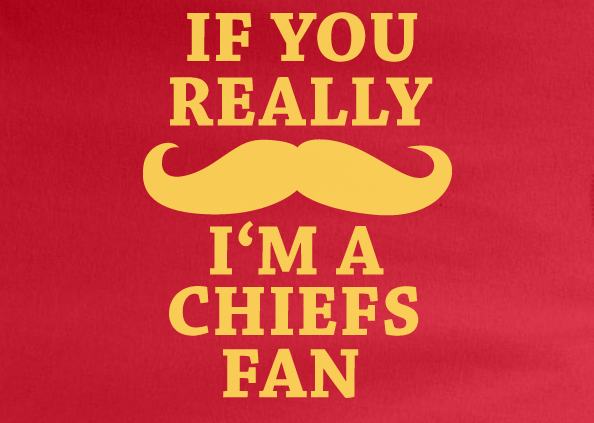 official photos f523c 78c3d Red Custom 1 Color If You Really Mustache I'm a KC Kansas City Chiefs Fan  Tee Tshirt T-Shirt