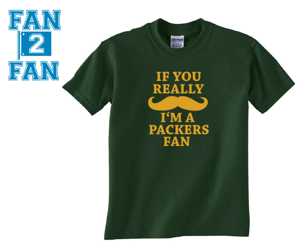 Green Custom 1 Color If You Really Mustache I'm A Green Bay Packers Tee Tshirt T-Shirt