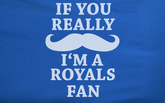 Blue If you really Mustache I'm a KC Kansas City Royals Fan Baseball Tee Tshirt T-Shirt