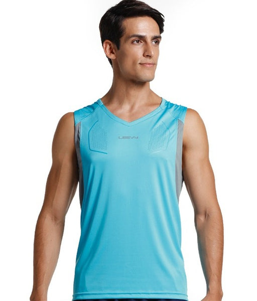 13709c79dbba77 ... New arrival Fitness Mens sports Sleeveless Shirt running Vests quick-dry  Tops Tank Top Men ...