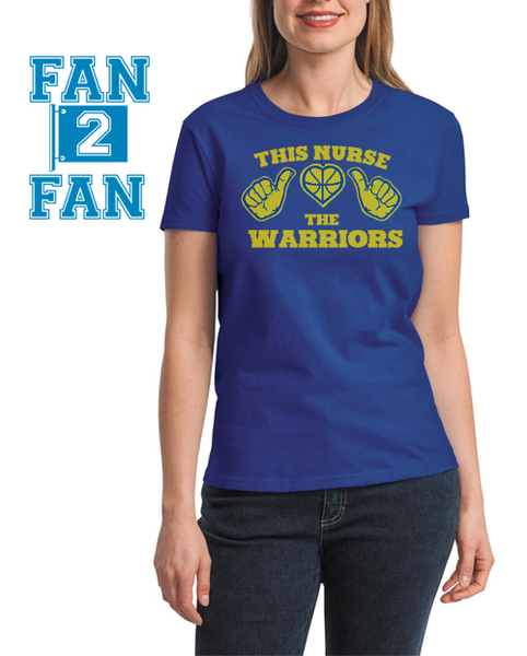 Blue This Girl Guy Nurse Loves the Golden State Warriors Fan Baseball Tee Tshirt T-Shirt