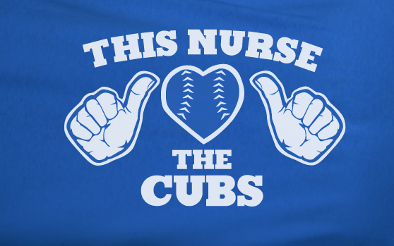 Blue This Girl Guy Nurse Loves the Chicago Cubs Fan Baseball Tee Tshirt T-Shirt