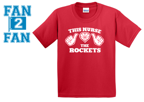 Red This Girl Guy Nurse Loves the Houston Rockets Fan Basketball Tee Tshirt T-Shirt