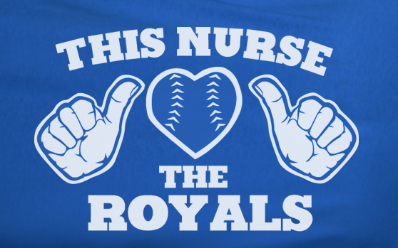 Blue This Girl Guy Nurse Loves the KC Kansas City Royals Fan Baseball Tee Tshirt T-Shirt