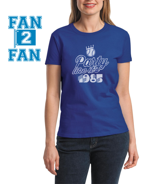 Blue Party Like its 1985 World series KC Kansas City Royals Fan Baseball Tee Tshirt T-Shirt