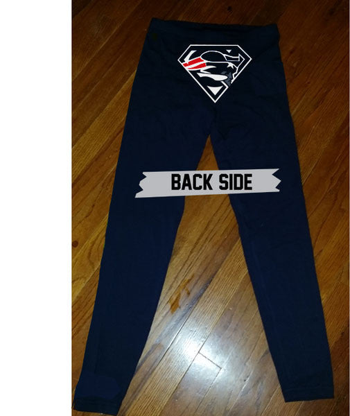 Custom New England Superman Patriots Leggings Legging yoga stretchy pants cheerleading jersey pants tshirt sweatshirt