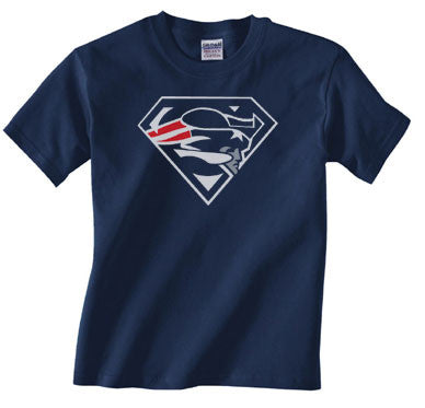 Custom New England Patriots Superman Tee Tshirt T-Shirt