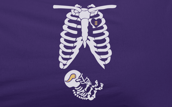 Purple Custom 2 Color Pregnant Maternity Baby newborn Minnesota Vikings Tee Tshirt T-Shirt