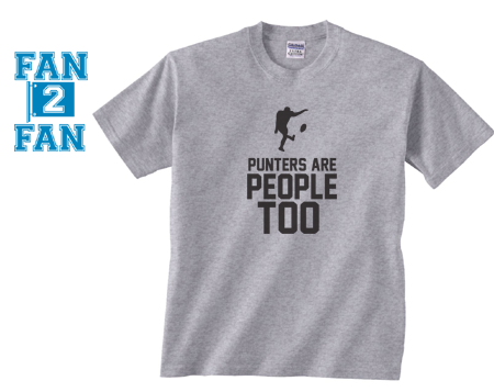 Gray Punters Are People Too Kicker Field Goal Football Tee Tshirt T-Shirt