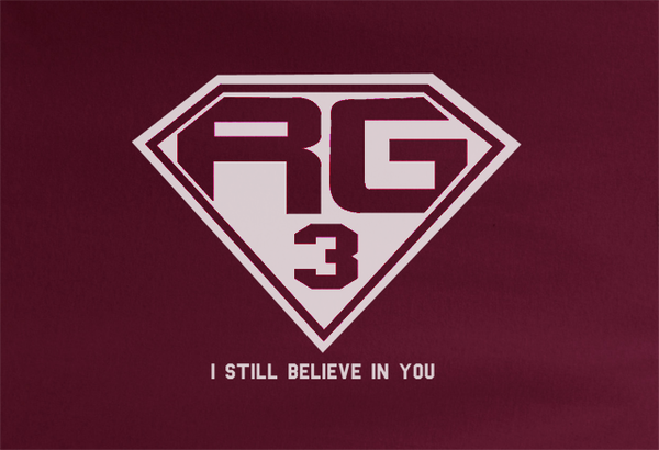 Maroon Custom 1 Color Robert Griffin III Third 3rd Superman Football Fan Tee Tshirt T-Shirt