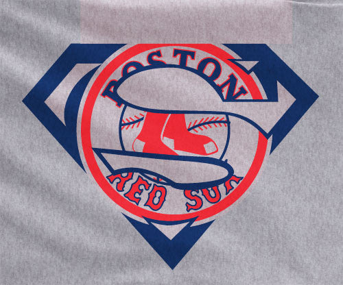 Gray Dyesub Premium Custom Boston Redsox Red Sox Superteam Superman Tee Tshirt T-Shirt Batman Wonder Woman