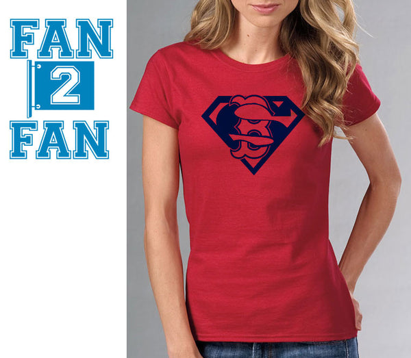 Red Premium Custom 1 Color Boston Redsox Red Sox Baseball Superteam Superman Tee Tshirt T-Shirt Batman