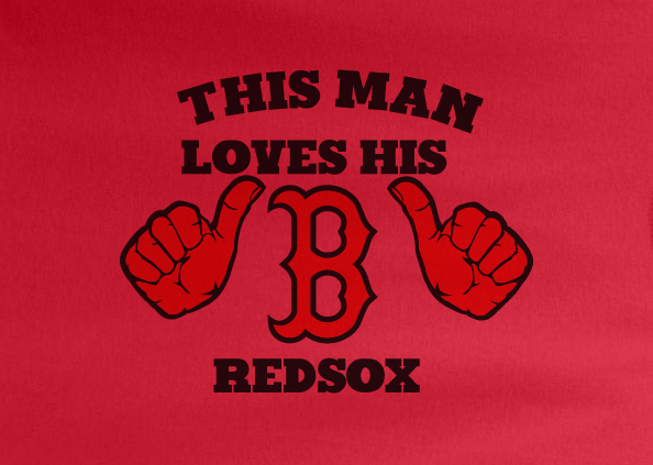 Red This Girl or Guy Man Loves the Boston Redsox Red Sox Hoodie Hooded Sweatshirt Unisex Child Ladies