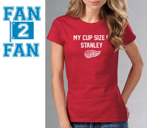 Red My Cup Size is Stanley Stanly Detroit Redwings Red Wings Canadians Tee Tshirt T-Shirt Batman