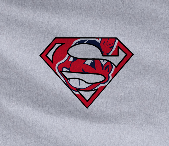 Gray Dyesub Cleveland Indians Superteam Superman Tee Tshirt T-Shirt Batman Wonder Woman