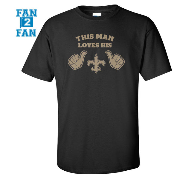 Black This Girl or Guy Loves the New Orleans Saints Football Tee Tshirt T-Shirt