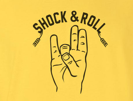 Gold Custom 1 Color Wichita Shockers Shock Rock and Roll Hand Gesture Fan Tee Tshirt T-Shirt