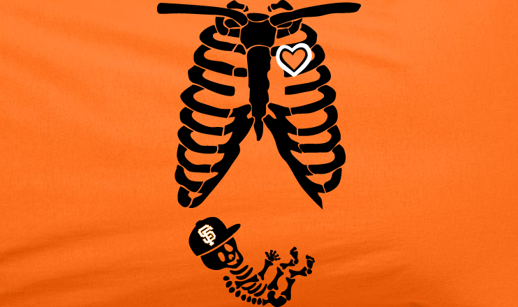Orange 2 Color Pregnant Maternity Baby newborn SF San Francisco Giants Baseball Tee Tshirt T-Shirt
