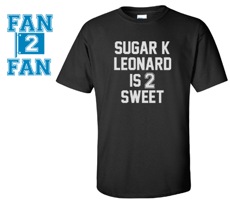 Black Custom 1 Color Sugar K Leonard 2 Sweet San Antonio Spurs Fan Tee Tshirt T-Shirt