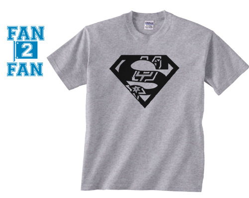 Gray Premium Custom 1 Color San Antonio Spurs Basketball Superteam Superman Tee Tshirt T-Shirt Batman