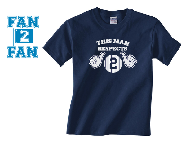 Navy Funny This Man Loves Respects Derek Jeter #2 NY New York Yankees Baseball Tee Tshirt T-Shirt