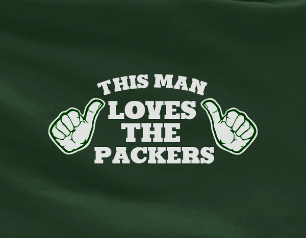 Green This Man Loves the Green Bay Packers Tee Tshirt T-Shirt