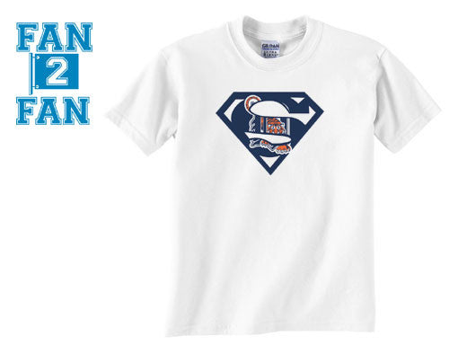 White Dyesub Premium Custom Detroit Tigers Superteam Superman Tee Tshirt T-Shirt Batman Wonder Woman