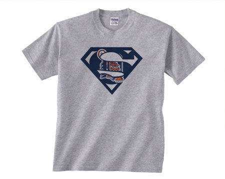 Gray Premium Custom Detroit Tigers Superteam Superman Tee Tshirt T-Shirt Batman Wonder Woman Lantern Flash Punisher Ironman