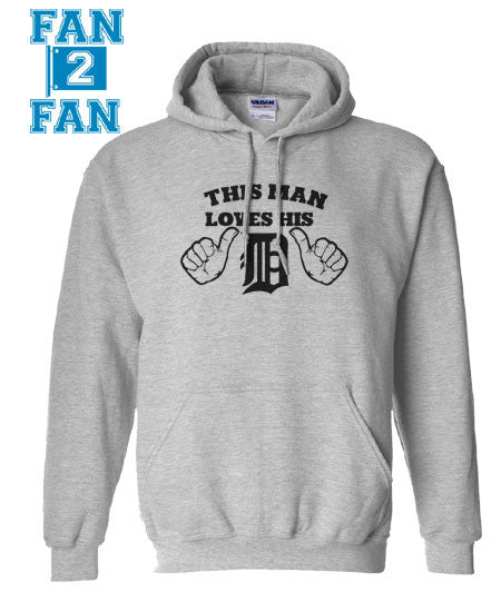 Gray This Girl or Guy Man Loves the Detroit Tigers Baseball Hoodie Hooded Sweatshirt Unisex Child Ladies