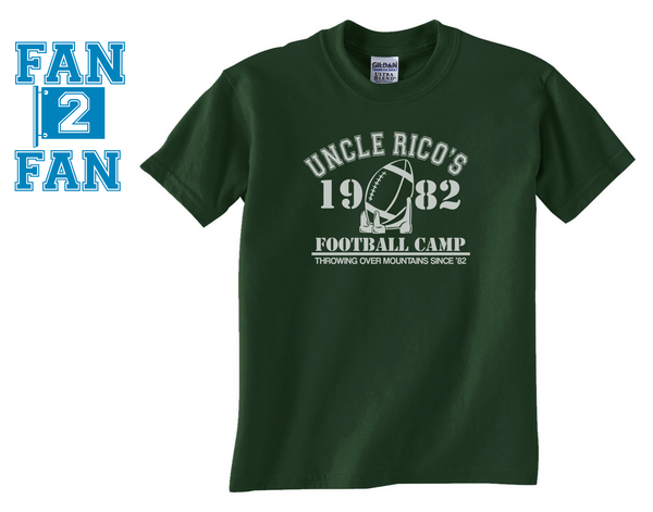 Forest Green Custom 1 Color Uncle Rico Napolean Dynamite Football Camp Fan Tee Tshirt T-Shirt