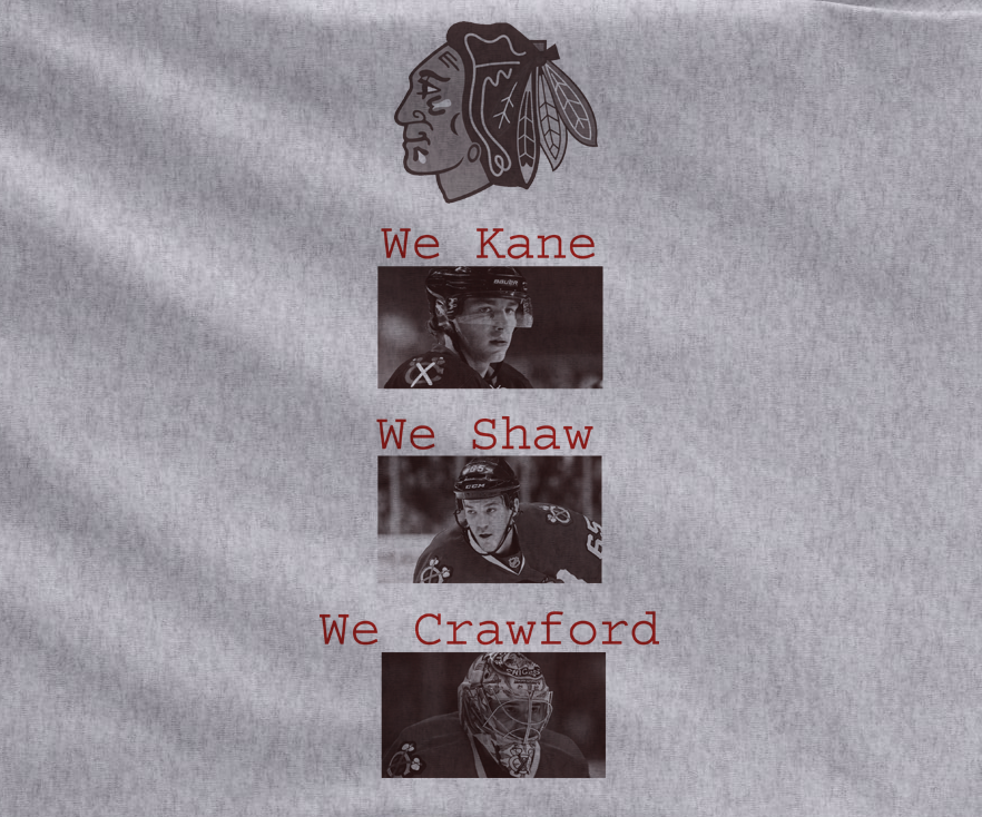 Gray Premium Chicago Blackhawks we kane we shaw we crawford stanley cup Tee Tshirt T-Shirt