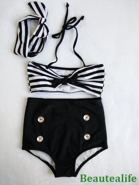 fdf91240b2 2017 Cute Striped Sailor Child Bikini swimsuit swimwear high waisted b –  KO 41 13 (Kickoffshirts.com Fishing) 2018