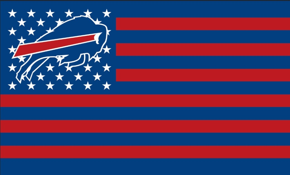 Wholesale 3x5ft Buffalo Bills Football Flag home decor with two metal  grommets Polyester custom Sports banner