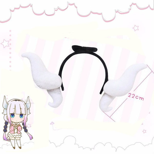Anime Kobayashi san Chi no Maid Dragon Miss Kobayashi's Dragon Maid Tooru & Kanna Cosplay Headwear Hair Clasp Hair Band