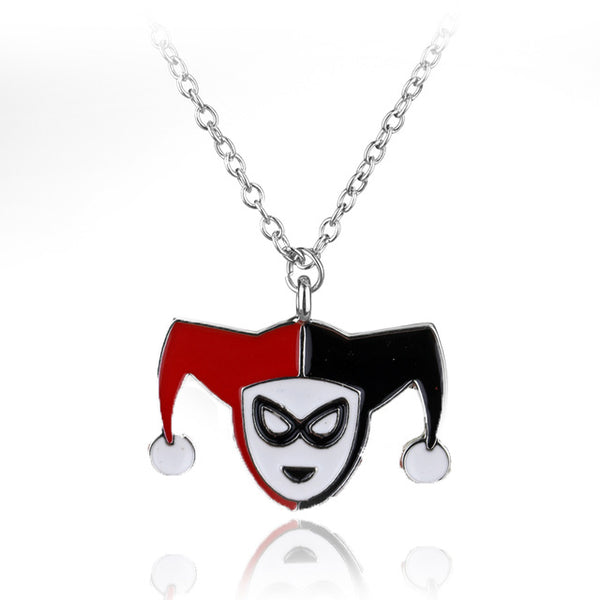 Suicide Squad Clown Joker Toy Pendants&Necklace  Harley Quinn Figure Necklace Long Chain Collier Unisex Gift