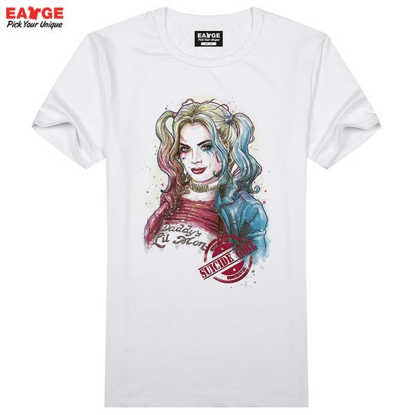 DC comic  joker Suicide Squad T Shirt Harley Quinn T-shirt Joker Cool Novelty Funny Tshirt Style Men Women Printed Fashion tees